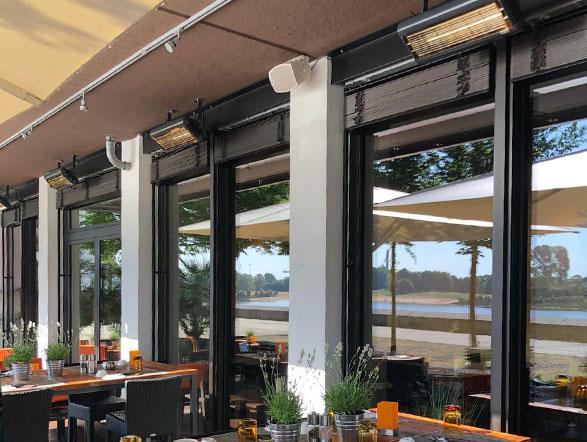 Terrassevarmere ute på restaurant