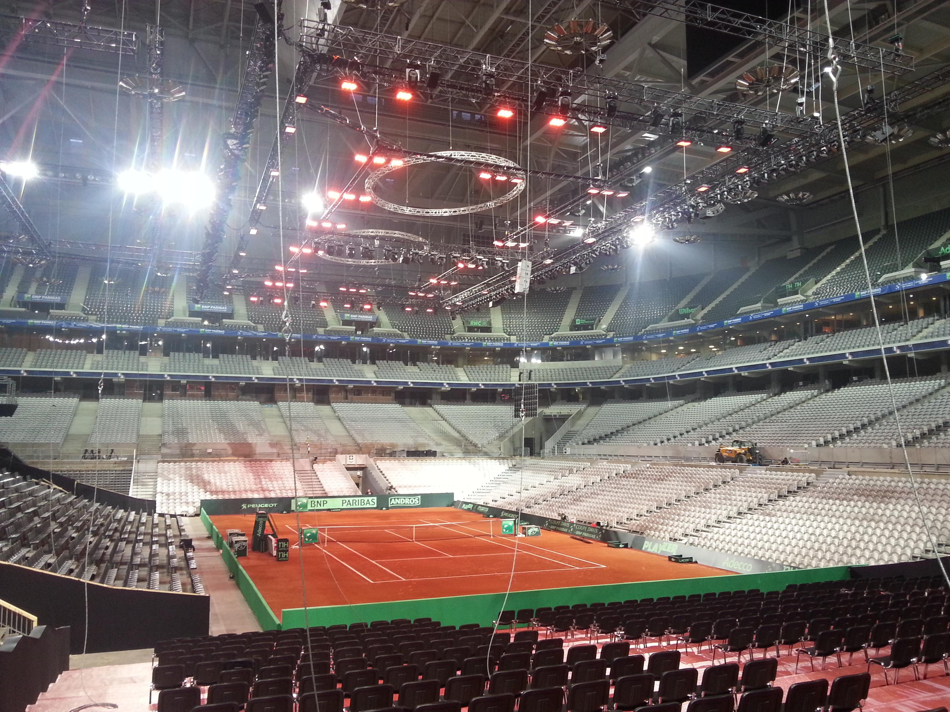 Infrarød varme i Davis Cup finalen