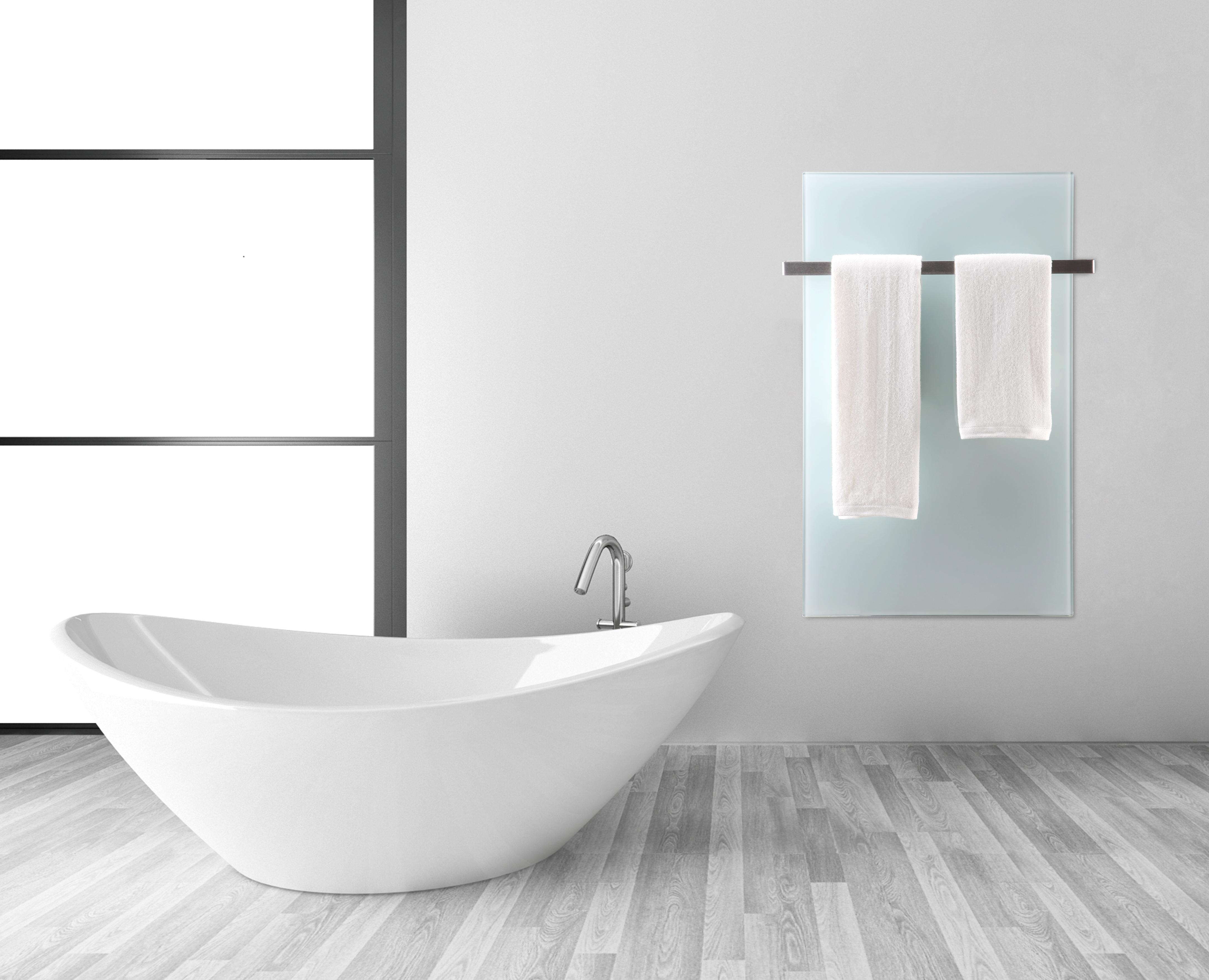 Varmepanel på badet (varmer håndklær)