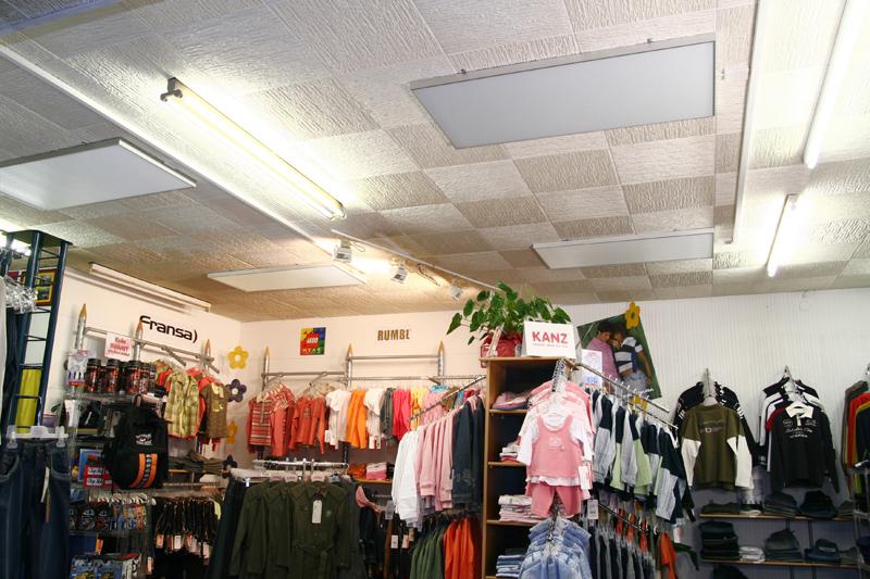 Varme i klesbutikk