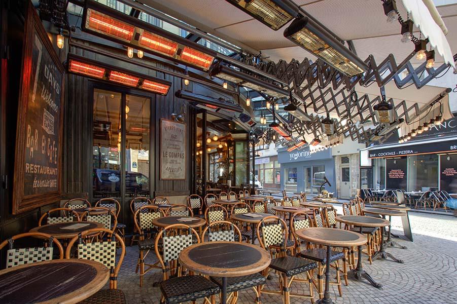 Terrassevarmere for proffmarkedet - restaurant